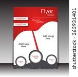 vector flyer  brochure ... | Shutterstock .eps vector #263931401