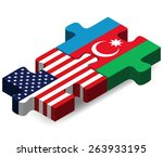 vector image   usa and... | Shutterstock .eps vector #263933195
