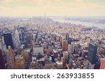 new york city manhattan skyline ... | Shutterstock . vector #263933855