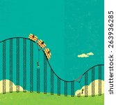 support in a roller coaster... | Shutterstock .eps vector #263936285