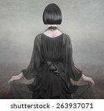 elegant retro lady. fashion... | Shutterstock . vector #263937071
