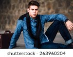young handsome  businessman... | Shutterstock . vector #263960204