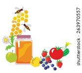 set of healthy food | Shutterstock .eps vector #263970557