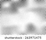 grunge halftone dots vector... | Shutterstock .eps vector #263971475