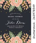 bridal shower invitation... | Shutterstock .eps vector #263978549