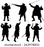 Seven Silhouettes Of Pirate...