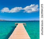 majorca platja de muro beach... | Shutterstock . vector #263984195