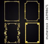 set of golden frames. metal. | Shutterstock .eps vector #263988671