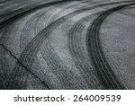 abstract asphalt road... | Shutterstock . vector #264009539