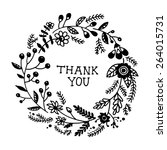 vintage floral frame   Shutterstock .eps vector #264015731