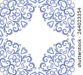 seamless doily watercolor... | Shutterstock . vector #264023354