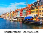 scenic summer view of nyhavn... | Shutterstock . vector #264028625