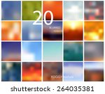 set of 20 square blurred... | Shutterstock .eps vector #264035381