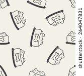 dog food doodle drawing... | Shutterstock . vector #264047831