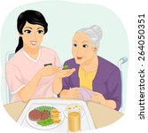 illustration of a nurse helping ... | Shutterstock .eps vector #264050351