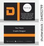 simple modern black orange... | Shutterstock .eps vector #264052799