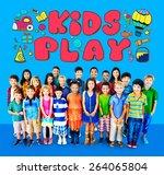 kids play imagination hobbies... | Shutterstock . vector #264065804