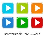 set of squared colorful buttons ... | Shutterstock . vector #264066215