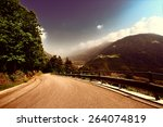 winding paved road in the... | Shutterstock . vector #264074819