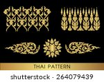 thai art pattern vector | Shutterstock .eps vector #264079439