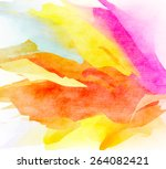abstract colorful water color... | Shutterstock . vector #264082421
