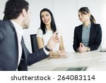 young people working in the... | Shutterstock . vector #264083114