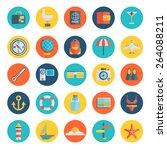 modern flat icons vector... | Shutterstock .eps vector #264088211