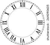 Vintage Roman Numeral Clock.  ...