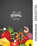 an italian pizzeria menu... | Shutterstock .eps vector #264101741