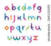 vector abstract color alphabet | Shutterstock .eps vector #264115355