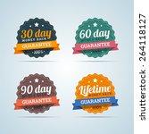 set of money back badges in... | Shutterstock .eps vector #264118127