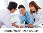 vietnamese business partners... | Shutterstock . vector #264122339