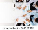 business team analyzing... | Shutterstock . vector #264122435