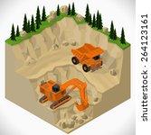 vector isometric illustration... | Shutterstock .eps vector #264123161