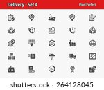 delivery icons. professional ... | Shutterstock .eps vector #264128045