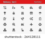 delivery icons. professional ... | Shutterstock .eps vector #264128111