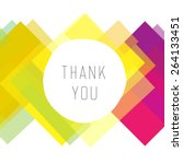 thank you card colorful  vector  | Shutterstock .eps vector #264133451