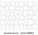 white puzzle  vector... | Shutterstock .eps vector #264138881