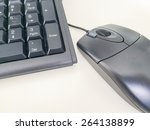computer mouse and keyboard in... | Shutterstock . vector #264138899