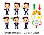 set of businessman and icons  ... | Shutterstock .eps vector #264142805