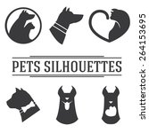 Set Of Cat And Dog Silhouettes
