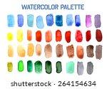 colour palette comprising of... | Shutterstock .eps vector #264154634