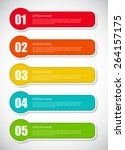infographic design elements for ... | Shutterstock .eps vector #264157175
