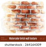 Watercolor Brick Wall.