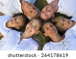 six person star shaped family... | Shutterstock . vector #264178619