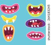 cute monster mouth | Shutterstock .eps vector #264183245