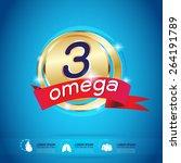 kids calcium omega 3 vitamin... | Shutterstock .eps vector #264191789