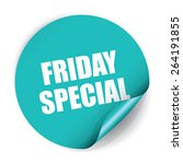 friday special sticker and tag | Shutterstock . vector #264191855