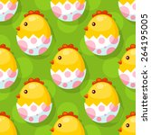 Seamless Easter Background Wit...
