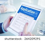 application human resources... | Shutterstock . vector #264209291